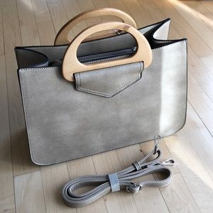 Vegan leather satchel or cross body bag